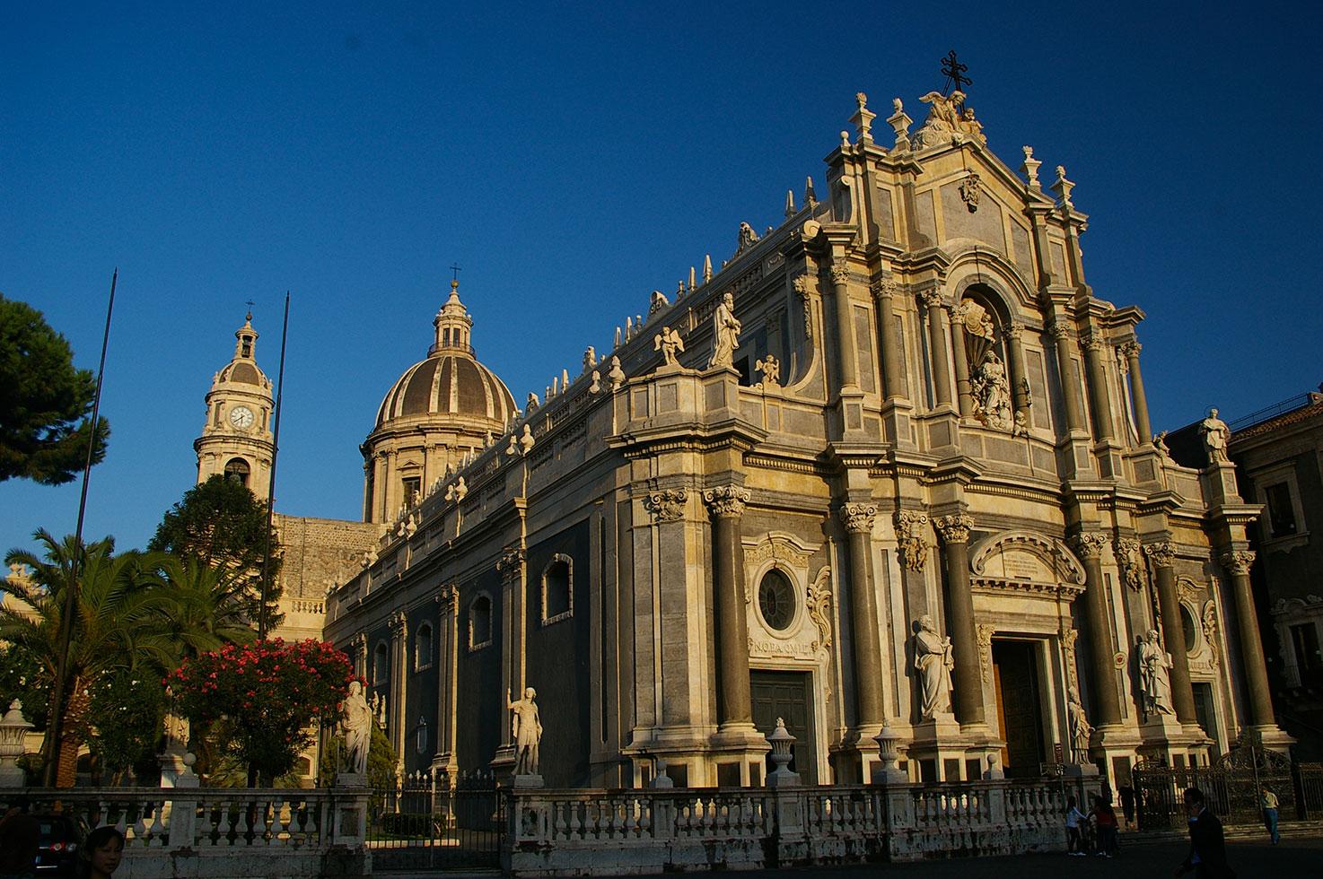 La cattedrale di Sant'Agata, patrona della città