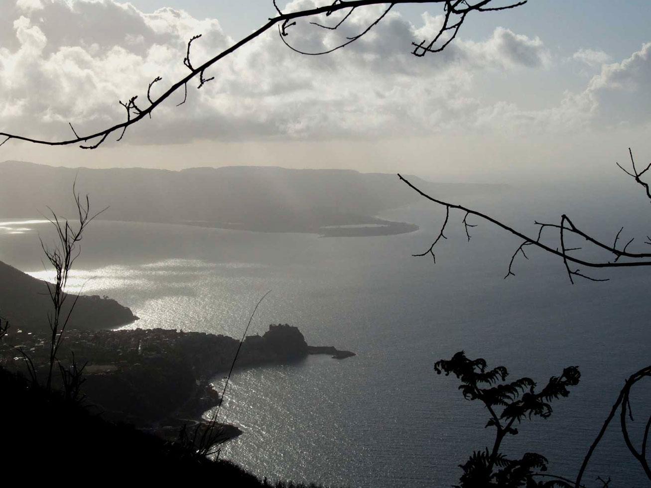 Aspromonte: vista su Scilla e Cariddi