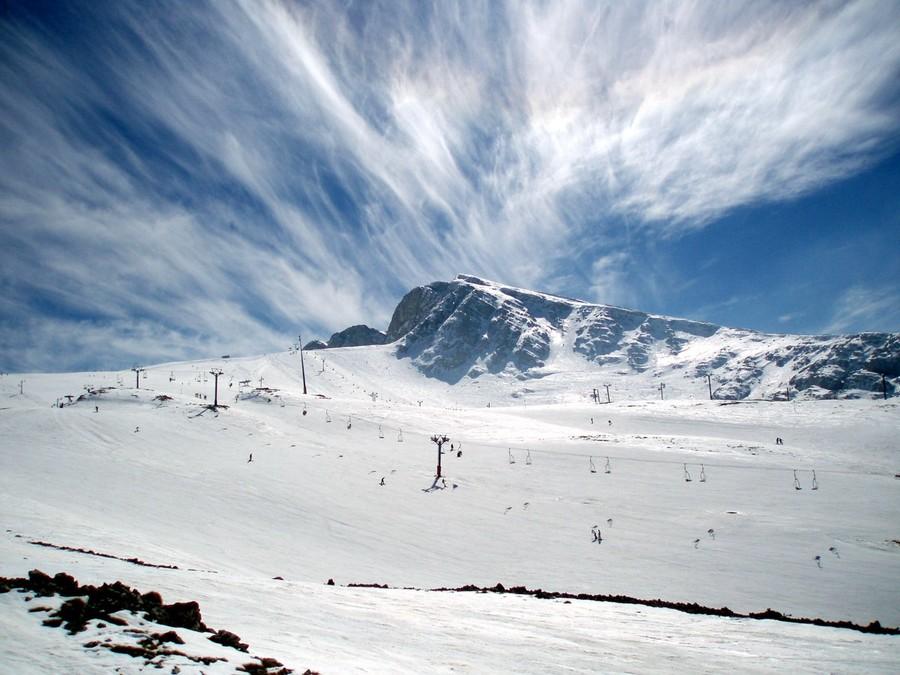Le piste da sci sul Parnassòs sono méta degli sportivi ateniesi